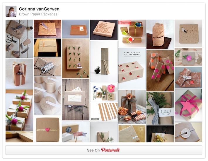 Brown Paper Packages | Follow Corinna vanGerwen's board on Pinterest