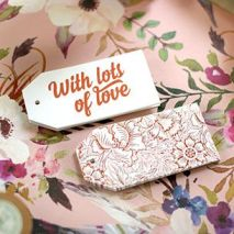 3. Copper foil gift tags