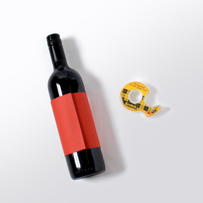 DIY Washi Tape Wine Bottle Sleeves | Thanksgiving Hostess Gift | Corinna Wraps.wordpress.com