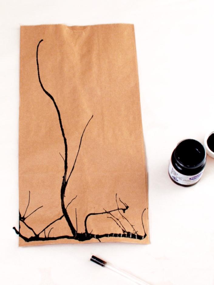 DIY Spooky Branch Halloween Loot Bags | CorinnaWraps.wordpress.com