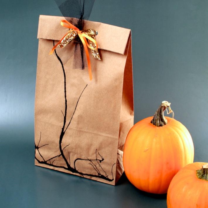 DIY Spooky Branch Halloween Loot Bags   CorinnaWraps.wordpress.com