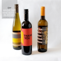 DIY Washi Tape Wine Bottle Sleeves | Thanksgiving Hostess Gift | Corinna Wraps.wordpress.com
