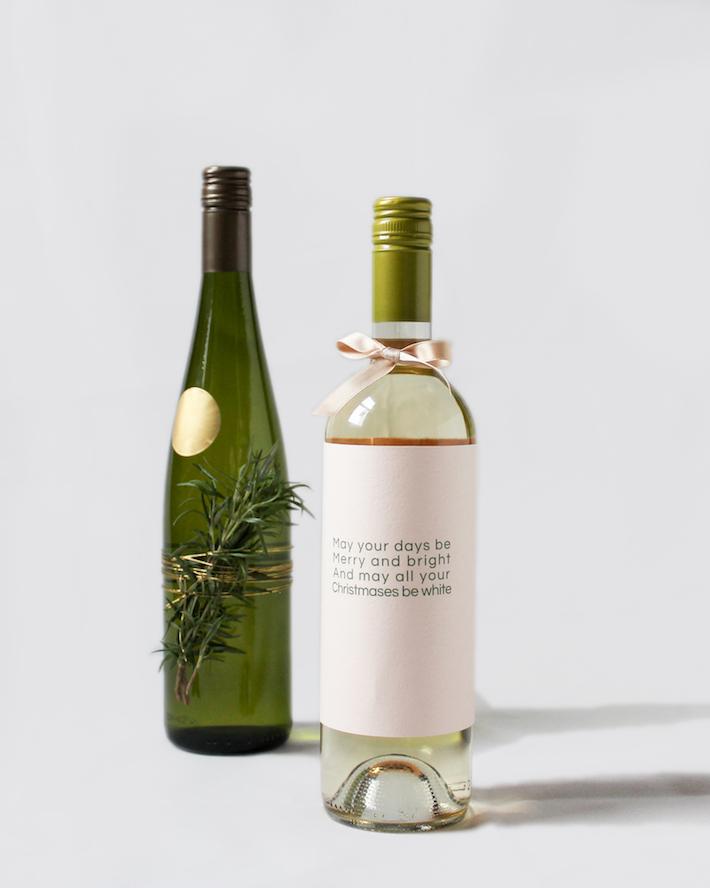 Rosemary wine-bottle decoration and holiday wine bottle sleeve   CorinnaWraps.wordpress.com