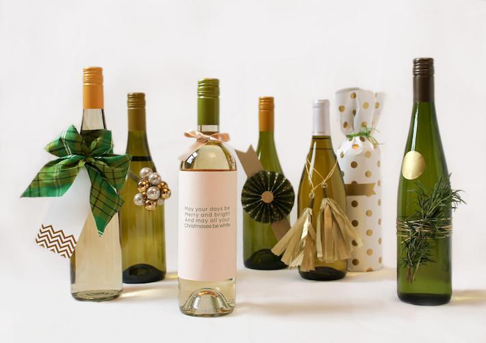 7 Festive Ways to Wrap Wine   CorinnaWraps.wordpress.com
