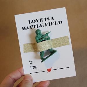 1. Printable Army-Man Valentine