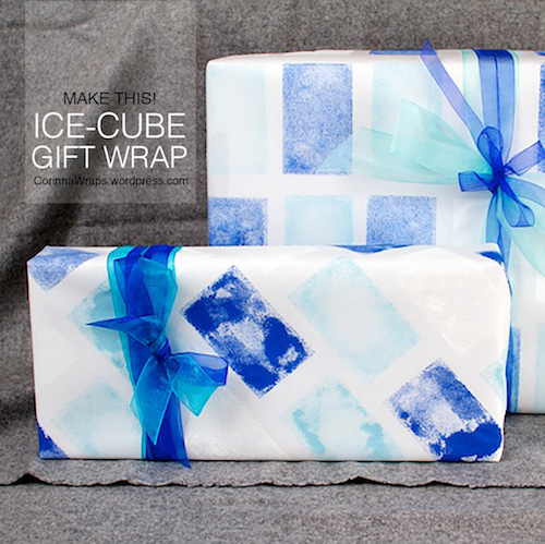 DIY Frosty Ice-Cube Wrapping Paper   CorinnaWraps.wordpress.com
