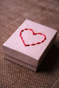 3. DIY Stitched Gift Box